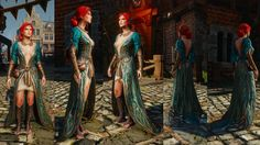 Triss Merigold alternative look Triss DLC Outfit green dress Witcher 3 Wild Hunt Sorceress Dress super detalized cosplay costume Triss Merigold Cosplay, Triss Merigold Witcher 3, Triss Cosplay, Witcher Art, Witcher 3 Wild Hunt, The Witcher 3, Lightning Cosplay, Fake Skin, Halloween Cosplay