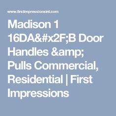 Find Madison 1 Door Handles u0026 Pulls by First Impressions.  sc 1 st  Pinterest & PDQ Door Hardware | Locks Exit Devices u0026 Closers | Door Hardware ... pezcame.com