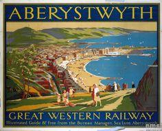 GWR Poster: Aberystwyth