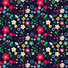 Floral on black | Tjarda Borsboom