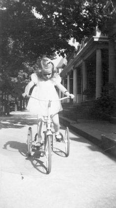 Girl on Vintage Bike