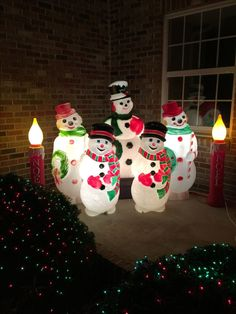 This season, decorate your yard with Christmas blow molds.