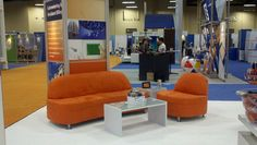 trade show booth furniture featuring our Tangerine Collection