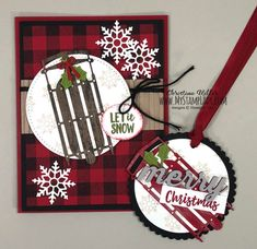 Alpine Adventure Live Projects - My Stamp Lady Christmas Cards 2018, Christmas Paper, Christmas Gift Tags, Xmas Cards, Handmade Christmas, Holiday Cards, Christmas Crafts, Christmas Stuff, Christmas 2019