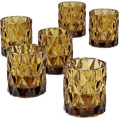 set of 6 betty tea light candle holders  | CB2