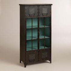 One of my favorite discoveries at WorldMarket.com: Kiley Metal Locker Cabinet