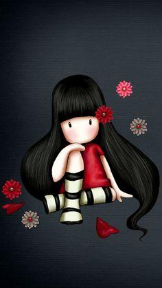 Change your iPhone wallpaper - garden desing - Garden Decor Illustration Mignonne, Cute Illustration, Cute Images, Cute Pictures, Art Fantaisiste, Art Mignon, Image Digital, Cute Cartoon Girl, Whimsical Art