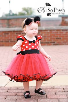 MINNIE dress TUTU  Party Dress  in Red Polka Dots super twirly  dress Etsy, $58.00 Ella's Halloween!? So cute!!