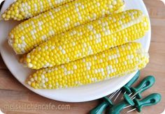 perfect corn on the cob -- Love this method! It even rescued some corn that was slightly past prime.