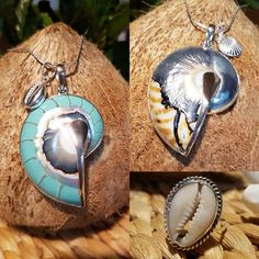 South sea island inspired shell and silver jewellery. Shells, silver, stone, boho, chic jewellery made for the surfer girl or fun loving office worker.
