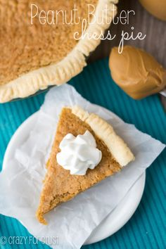 If you love peanut butter, you'll love this rich Peanut Butter Chess Pie recipe!