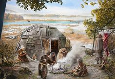 Stone Age hunter-gatherer camps with temporary vegetation in Sursee and Mauensee by Joe Rohrer