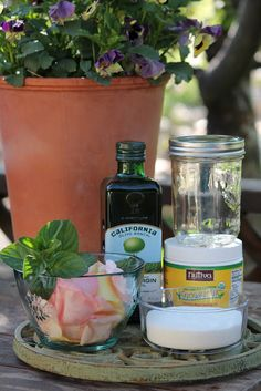 Make Your Own Rose Petal & Mint Body Scrub