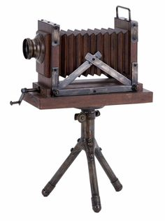 Wood Metal Camera Entertaining Room Decor With Antique Feel
