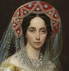 The kokoshnik is a Traditional Russian head-dress worn  by women and girls