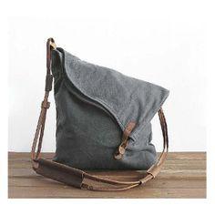 Gray Canvas shoulder bag, Canvas handbag, Student Canvas , Backpack , Leisure Packs, clutch bag, totes