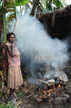 Dani tribe, village, Wamena, Baliem Valley, West-Papua, Irian Jaya, Indonesia, Dorf, Baliem-Tal