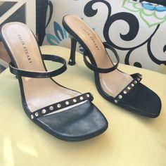 FLASH SALE Colin Stuart Rhinestone Heels Black heels adorn with Rhinestones.  Classic Two straps . Worn twice! One rhinestone is missing on one side. Easy Fix. Colin Stuart Shoes Heels