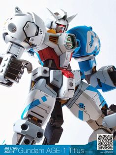 GUNDAM GUY: MG 1/100 Gundam AGE-1 Titus - Customized Build