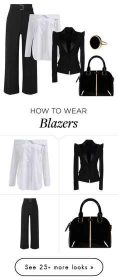 """""""Business Woman"""" by giulia-ostara-re on Polyvore featuring Veronica Beard, Plein Sud and Ginette NY"""