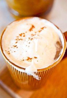 Every year around this time the world seems to go crazy for Starbucks Pumpkin Spice Lattes Photo Source The Starbucks Pumpkin Spice Lattes are lovely… But you can make them at home And I'd like to think my make-at-home version wins Why? Because you can make them vegan at home, if you so choose. And …