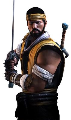 MKX Hanzo Hasashi Render Mortal Kombat Unchained, Escorpion Mortal Kombat, Mortal Kombat Ultimate, Mortal Combat, Samurai Warrior, Fighting Games, Fantasy Inspiration, Ghost Rider, Street Fighter