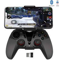DELTA essentials Bluetooth/2.4G Manette PC PS3 avec Dualshock et Turbo Call of Duty Mobile PUBG Mobile Manette pour PC Windows 7/8/8.1/10 PS3 Android