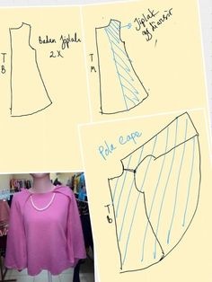Easy blouse cape pattern