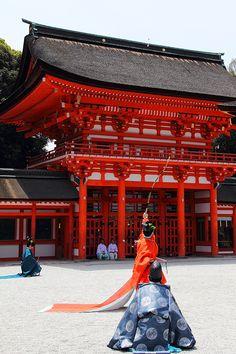 Ancient archery festival at Shimogamo shrine, Kyoto, Japan: photo by 92san