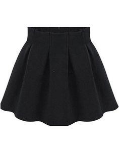 High Waist Pleated Flare Skirt 12.67