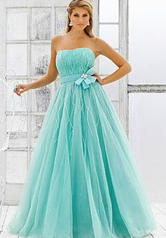 long tulle strapless draping ball gown tassels prom dress