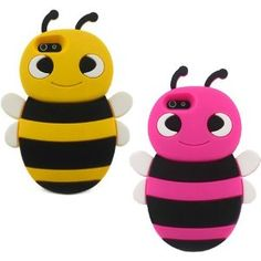 S9D 3D Animal Bee Cute Silicon Soft Back Cover Case Protecter For iPhone 4 4S