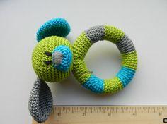 Baby rattle Baby teething SET of 2 Crochet Teething baby toy