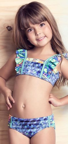 kids cameltoe on the beach  Sexy Bikini Girls Swimsuit Patchwork Children Beach Swimsuit For ...