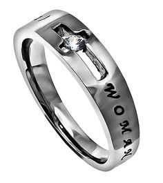 """Solitaire Ring """"Woman Of God"""" 