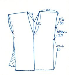 f: id: azarenia: plain Blouse Patterns, Sewing Patterns, Recycled Shirts, Sewing Magazines, Diy Tops, Japanese Sewing, T Dress, Beaded Crafts, Sewing Pillows