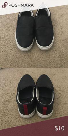Men's Black Slip On Sneakers Black Leather Slip on Sneakers (Nordstrom Rack) Shoes Sneakers