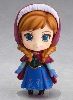 Monérrima la Nendoroid de Anna de Frozen que sacará Good Smile en enero. Perfecta para combinar con Elsa ;)