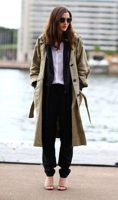 비가 오기 시작하니 갑자기 쌀쌀해져버렸어요 이제 트랜치코트를 입을 계절이 온건가요? 가을 여성트랜치코...