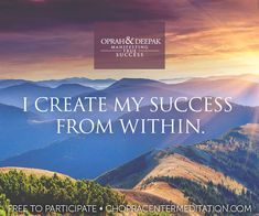 Welcome to Day 1 – Success Is a Living Reality  Your journey to true success begins today! Join hundreds of thousands of other meditators around the globe – it's FREE! #ManifestingSuccess