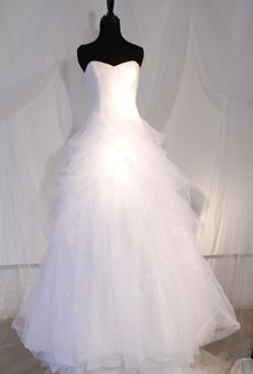 Style David's Bridal Wedding Dress Fall 2012 - Strapless Tulle Ball Gown with Side Skirt Swags Wedding Dresses Photos, Bridal Wedding Dresses, Wedding Dress Styles, Designer Wedding Dresses, Wedding Attire, Prom Dresses, 1920s Wedding, Red Wedding, Wedding Ideas