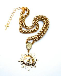 Gold Sunshine Rosary Choker