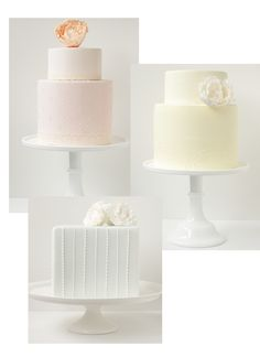 beautiful and delicate wedding cakes