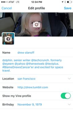 You Can Now Tie Your Twitter And Vine Profiles Together, Vine Displaying Your Total Loops