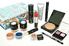 Kit de maquiagem com cosméticos orgânicos e veganos