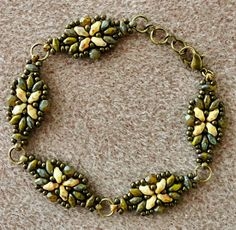 Linda's Crafty Inspirations: Bracelet of the Day: Loretta Variation