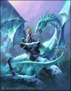 Le Dragon des Glaces - Paolo Barbieri