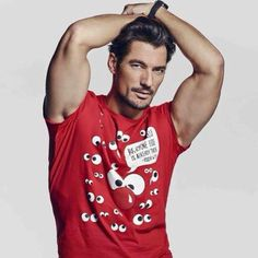 "David Gandy @DGandyOfficial : ""Support @ comicrelief: @ rednoseday by purchasing a 2015 shirt. Order info: tkmaxx.com/unisex-red-com… """