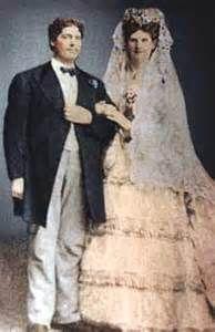 Anna Swan and Martin Van Buren Bates, her husband