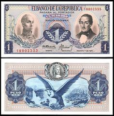 Colombia Pesos banknotes for sale. Dealer of quality collectible world banknotes, fun notes and banknote accessories serving collectors around the world. Over 5000 world banknotes for sale listed with scans and images online.